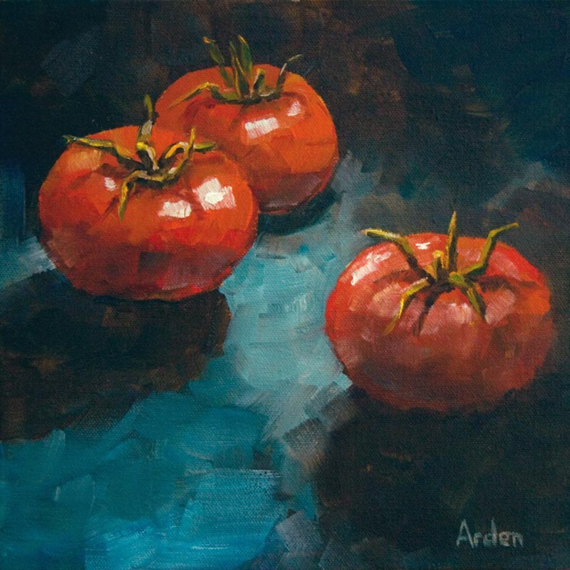 Tomatoes - painting by Anny Arden
