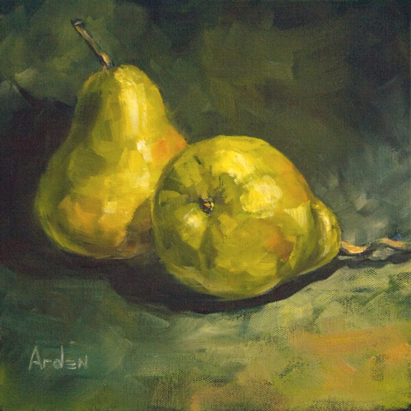 Pears - painting by Anny Arden