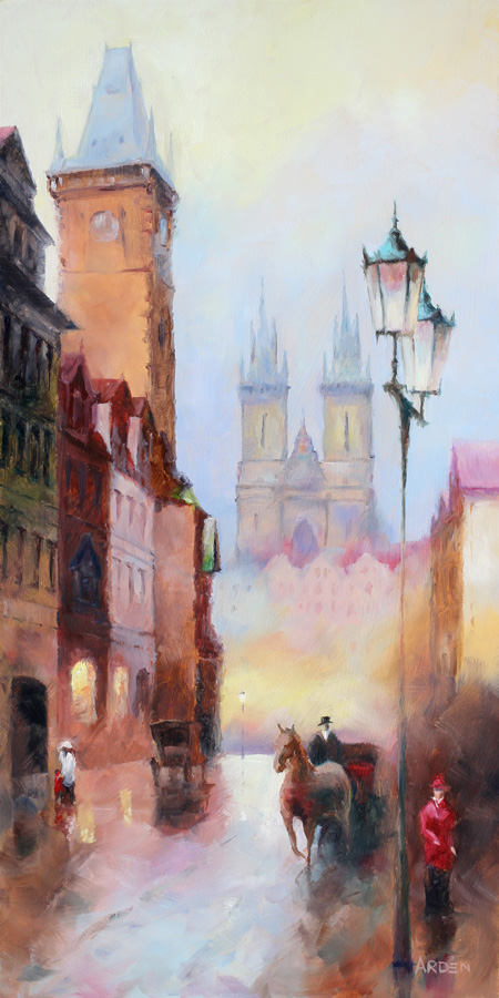 Old Prague - painting by Anny Arden