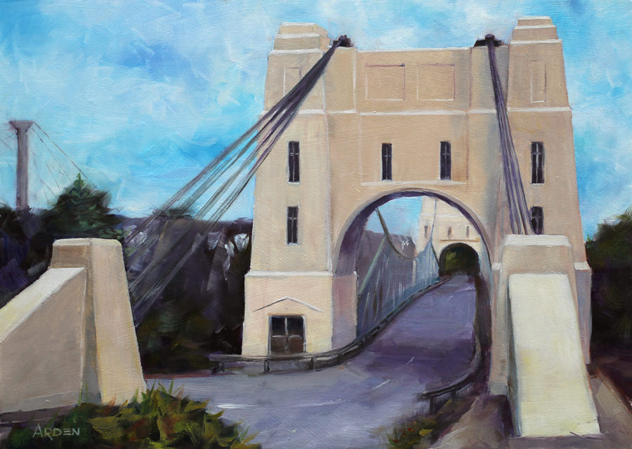 Walter Taylor Bridge, Indooroopilly - painting by Anny Arden