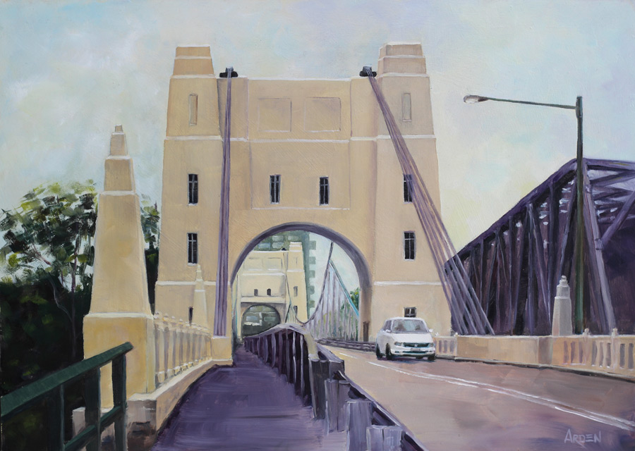 Walter Taylor Bridge, Chelmer - painting by Anny Arden