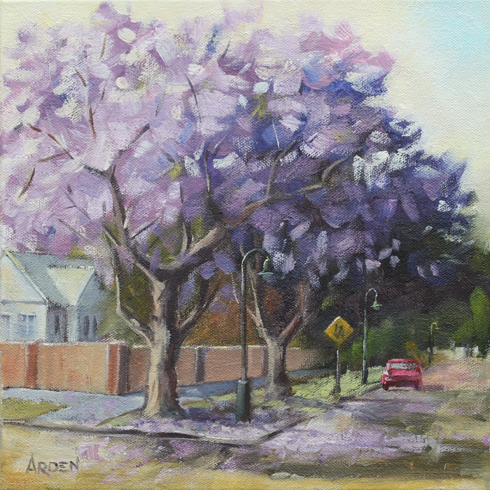 Jacaranda Time - painting by Anny Arden