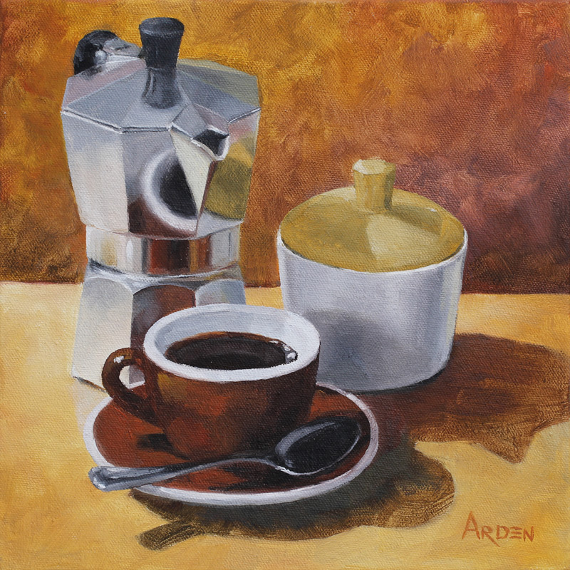 Coffee Break - painting by Anny Arden