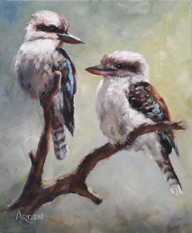Kookaburras - painting by Anny Arden